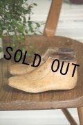 お買い得 硬質の古い木の雰囲気が素敵です! 幼児用 ライトブラウン木型靴セット 15.0cm USAビンテージ