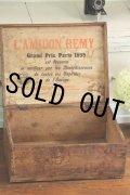 1889年 フランス PARIS製 L'AMIDON REMY ライオンの焼印 中には枯れたラベル 木製ボックス 34.5×26.0×H15.0cm