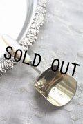 美品 1805年 ジョージアン アンティークシルバー 純銀製 キャディ スプーン マザーオブパール 飾り加工ハンドル & 金彩シャベル型カップ