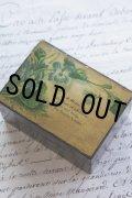 アンティーク スミレのモシュリンヌ小箱 すずかけの木 8.0×5.7×4.6cm 1900年代初期 スコットランド製