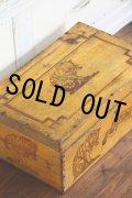 お買い得価格 フランス製 アンティーク Amidon au Chat 木製ボックス 大きな猫ロゴ 39.5×24.5×H 15.0cm