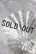 極上美品 純銀製 シェル・バターディッシュ 豪華飾り象嵌 & 立脚 1984年製 英国ロンドン製 111g